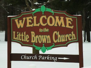 Church welcome sign