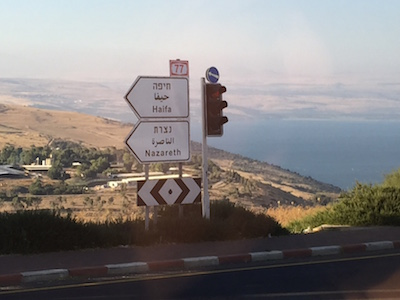 Interesting to see biblical names on the road signs