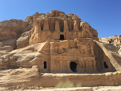 One of the burial places in Petra