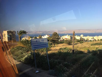 Tiberias is right at sea level
