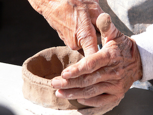 pottery-making